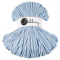 Шнур хлопковый Bobbiny 5 мм, Светлый голубой джинс (меланж)