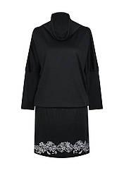 Платье летучая мышь с воротом Хризантемы