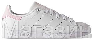 Женские кроссовки Adidas Stan Smith White Aдидас Cтэн Смит белые с розовым, фото 2