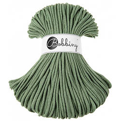 Шнур хлопковый Bobbiny 5 мм, Зеленый шалфей