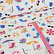 Хлопковая ткань польская пляж на сером, фото 2