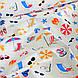 Хлопковая ткань польская пляж на сером, фото 4