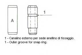 Напрямна клапанаЛанос 1,5 8V 7mm, Metelli, 01-S2685