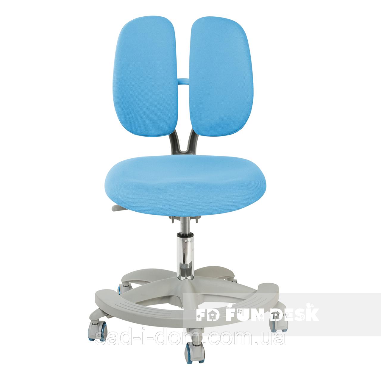 Детское компьютерное ортопедическое кресло FunDesk Primo, голубое