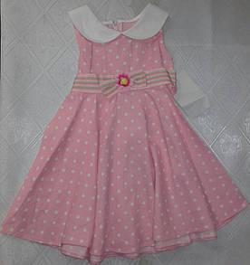 Розовое платьев белый горошек (2 года)