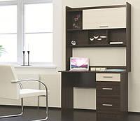 Компьютерный стол Школьник-4 с Надстройкой (1100х550х1886)