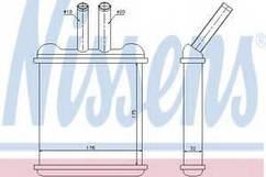 Радиатор печки Ланос/Нубира ALL97-1.3-1.6 , NisSens, 76502