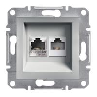 Розетка PC + TF Алюміній Schneider Electric