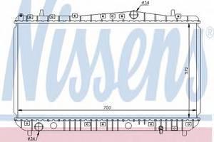 Радиатор охлаждения Лачетти 1,6-1,8 , NisSens, 61633