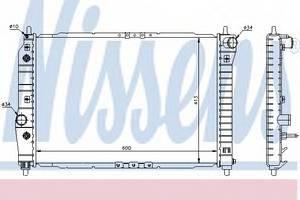 Радиатор охлаждения Авео 1.5 (AT) , NisSens, 61637
