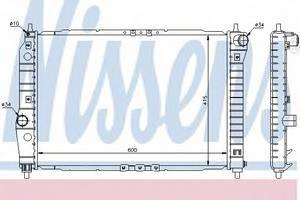 Радиатор охлаждения Авео (T250, T255) (05-) 1.4 i 16V , NisSens, 61645
