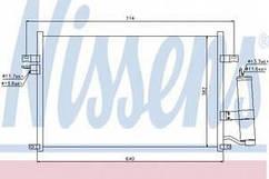 Конденсатор кондиціонера Лачетті 1,6-1,8 , NisSens, 94725