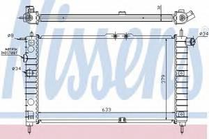 Радиатор охлаждения Нексия (94-) , NisSens, 61651A