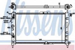 Радиатор охлаждения Нексия , NisSens, 616521