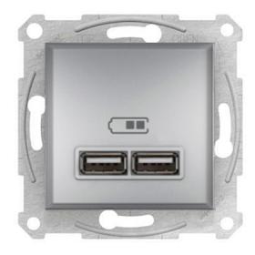 Розетка USB 2,1 A Алюміній Schneider Electric