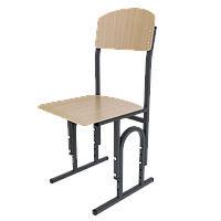 Школьный стул Кадет П-образный c гнутой фанерой