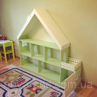 Большой кукольный домик-стеллаж с гаражом