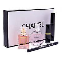 Подарочный набор Шанель Chanel Парфюм + Косметика 5 в 1