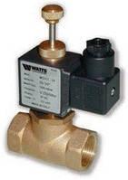 """Соленоидный газовый клапан с ручным взводом «WATTS» MSVO 1/2"""" нормально-открытый"""