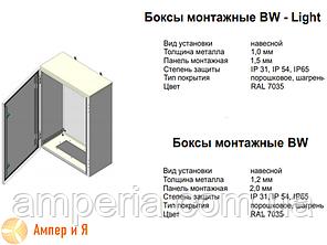 Бокс монтажный Билмакс BW-6.6.2,5 600х600х250 ip31, фото 2