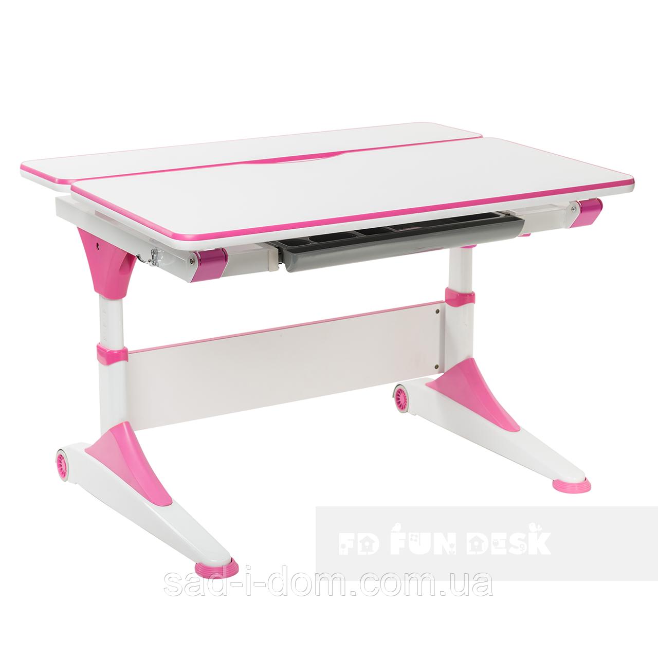 Парта-трансформер для школьника FunDesk Trovare, розовая