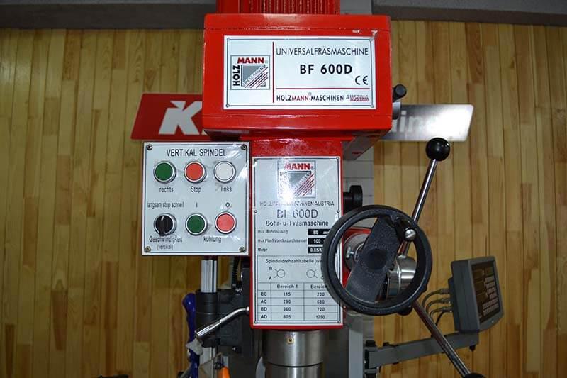 Фрезерний верстат Hozmann BF 600D, фото 4