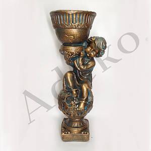Декоративна підставка кашпо Орфей 63 см бронза