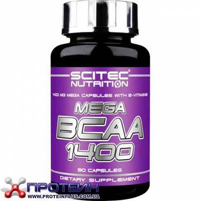 Аминокислота Scitec Nutrition MEGA BCAA 1400 (90 caps)