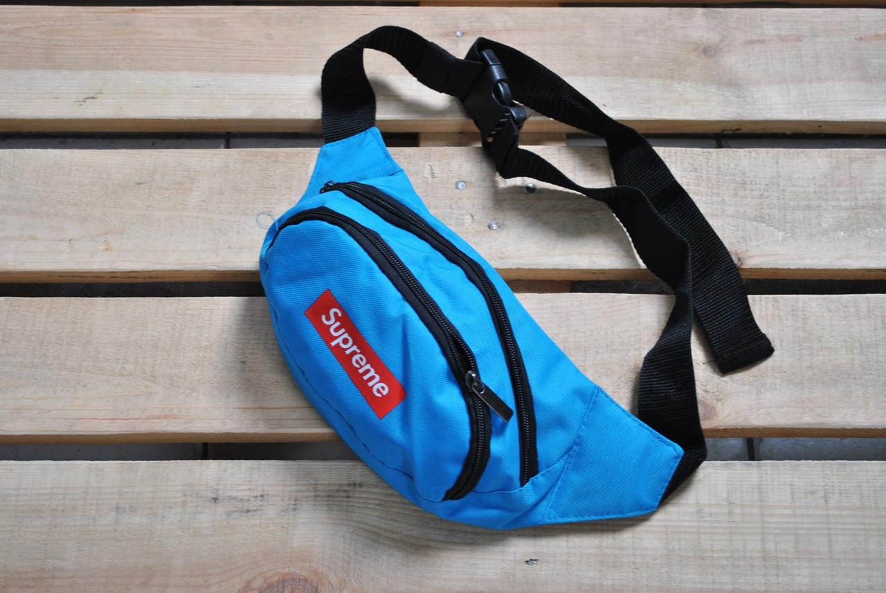 7b089f7fddf9 Сумка На Пояс (Поясная сумка, бананка) Supreme голубая - Компания