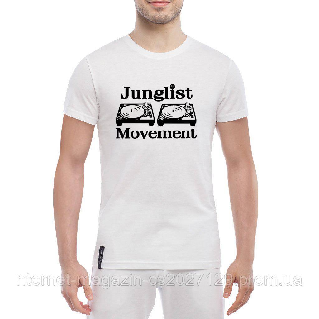 Футболка с печатью принта Junglist Movement