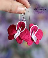 """Длинные серьги """"Розовые орхидеи"""", фото 1"""