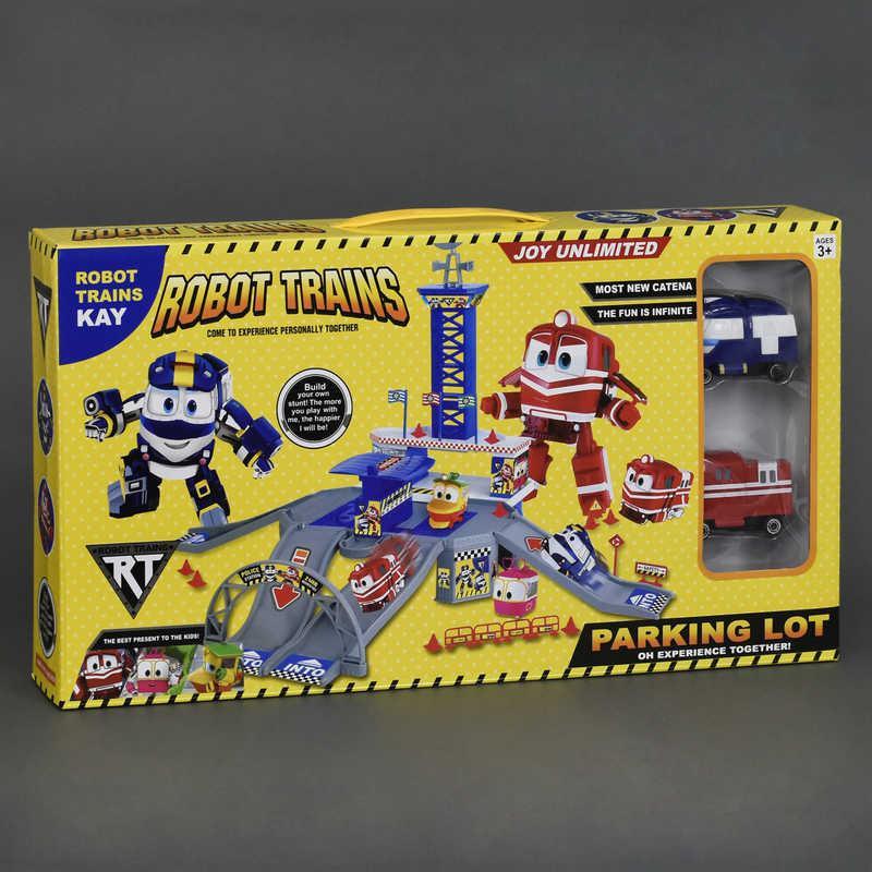 """Гараж ZY 646 (36/2) """"Robot Trains"""", 2 машины, 3 этажа, в коробке"""