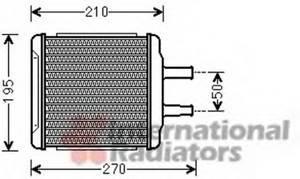 Радиатор отопителя Нубира / Лачетти ALL 03- 1.6-1.8  Van Wezel, 81006088