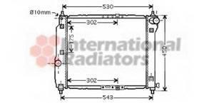 Радиатор охлаждения Авео 12/12 MT +-AC 1.5 Van Wezel, 81002066