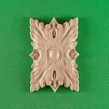 Деревянный резной декор для мебели. Розетка. Код Р12, фото 5