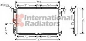 Радиатор DAEWOO Леганза AT 99- Van Wezel, 81002017