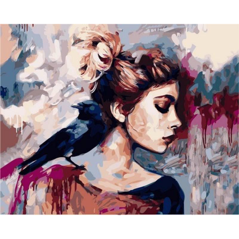Картина по номерам Синяя птица VP974 Babylon Turbo худ. Димитра Милан 40 х 50 см