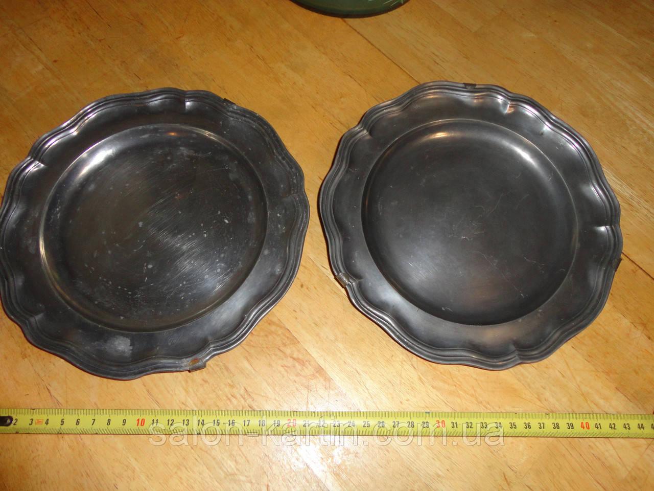 Настенная оловянная тарелка (клеймо, Германия)