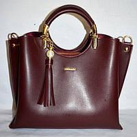 Женская бордовая сумка с кисточкой  B Elit, фото 1