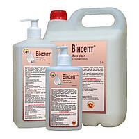 «винсепт» мыло жидкое антибактериальне с дозатором 1л