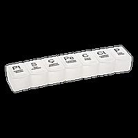 Коробка для таблеток 7 відділень прозора