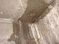 Устранение активных протечек сборных и монолитных бетонных и железобетонных конструкций, в том числе оштукатуренных цементно-песчаным раствором.