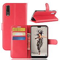 Чехол Huawei P20 5.8'' книжка PU-Кожа красный