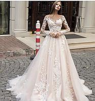 Платье свадебное Брендовые цветы , фото 1