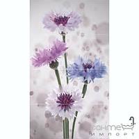 Плитка для ванной Novogres Плитка Novogres DUOMO AZIANLILA-4 декор4 (кафель с цветами)