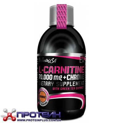 Жиросжигатель BioTech L-carnitine 70000 mg + Chrome (0.5 l)
