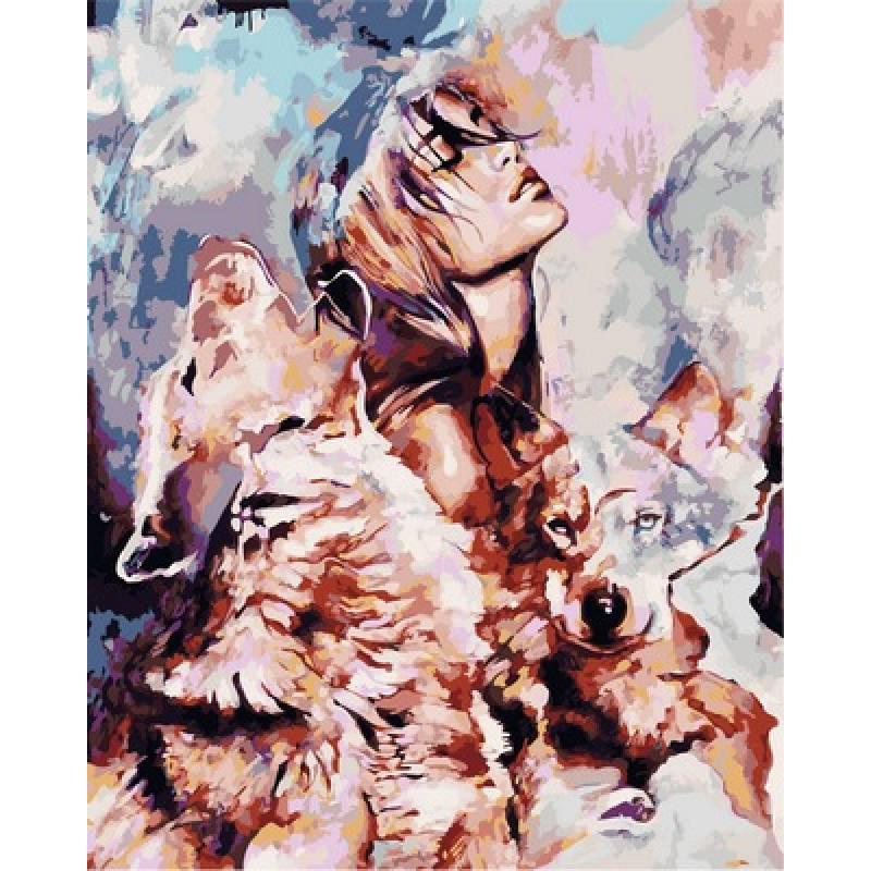 Раскраска по номерам Волчья стая VP977 Babylon Turbo худ. Димитра Милан 40 х 50 см