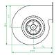 Вентилятор відцентровий (радіальний) малий ВРП 108, фото 4