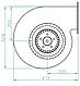 Вентилятор відцентровий (радіальний) малий ВРП 300, фото 4