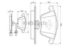Колодка торм. диск. AUDI A4, A6, ALLROAD передн. (пр-во Bosch), фото 2